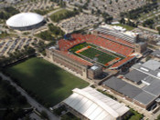 Illinois Fighting Illini at Memorial Stadium Aerial Poster