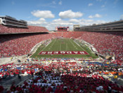 Wisconsin Badgers at Camp Randall Stadium Poster 1