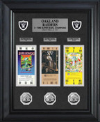 Oakland Raiders Super Bowl Ticket and Game Coin Collection