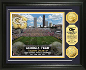 Georgia Tech Yellow Jackets - Bobby Dodd Stadium Gold Coin Photo