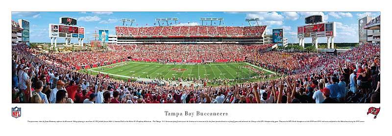 Tampa Bay Buccaneers at Raymond James Stadium Panorama Poster