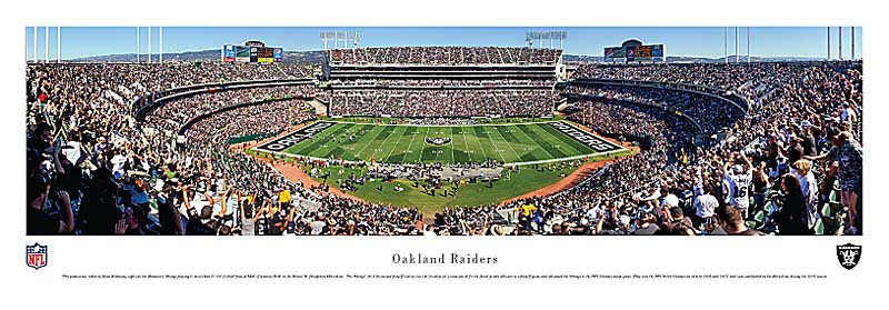 Oakland Raiders at O.com Coliseum Panorama Poster