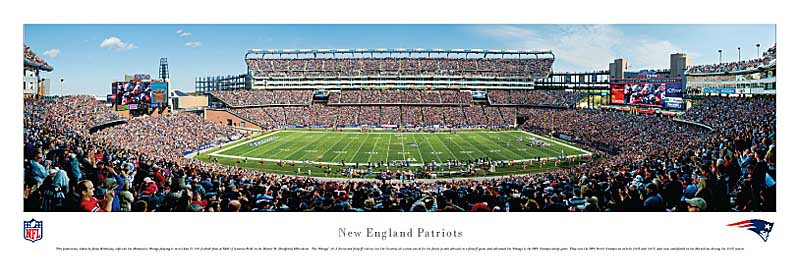 New England Patriots at Gillette Stadium - NFL Panorama