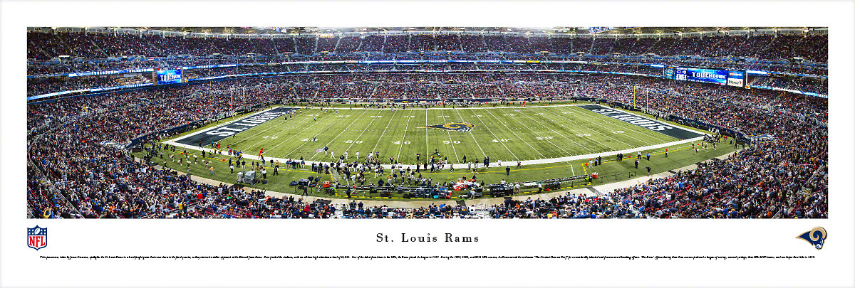 St. Louis Rams at Edward Jones Dome Panorama Poster