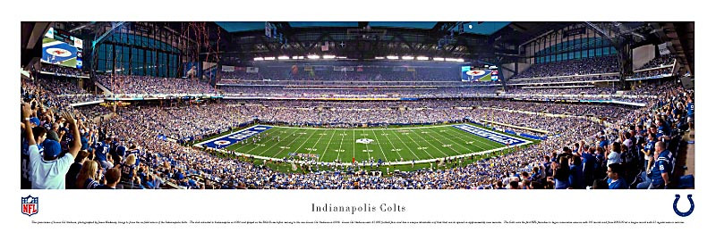 """Lucas Oil Stadium"" Indianapolis Colts Panoramic Photo"