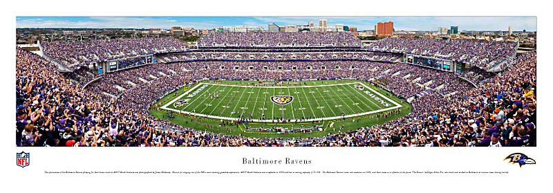 Baltimore Ravens at M&T Bank Stadium Panorama Poster