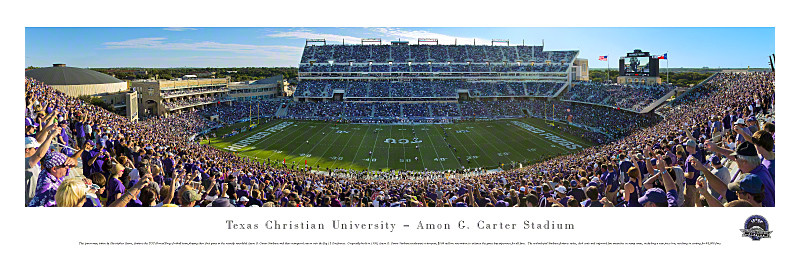 TCU Horned Frogs At Amon G Carter Stadium Panorama Poster