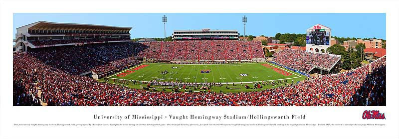 Ole Miss Rebels at Vaught Hemingway Stadium Panorama