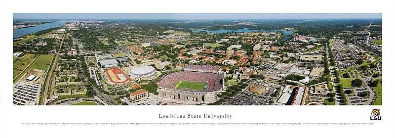 LSU Tigers at Tiger Stadium Panorama