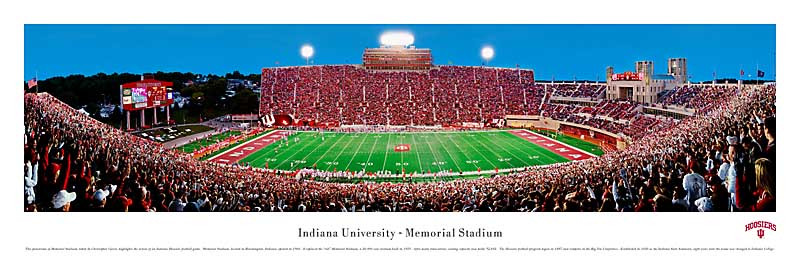 Indiana Hoosiers at Memorial Stadium Panorama Poster