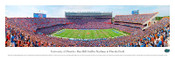 """50 Yard Line"" Florida Gators at Ben Hill Griffin Stadium Panorama Poster"