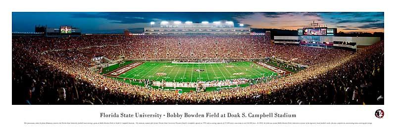 Florida State Seminoles at Doak Campbell Stadium Panorama Poster