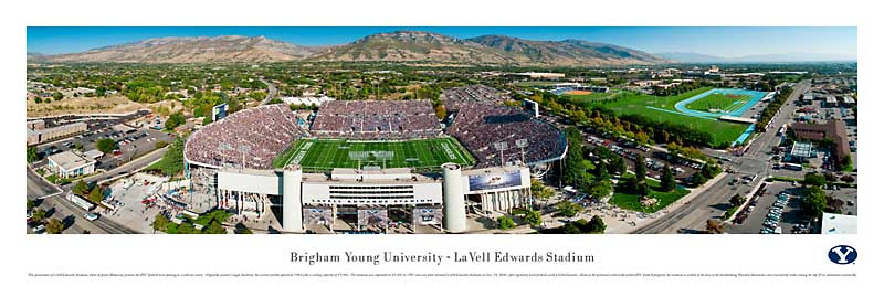 BYU Cougars At Lavell Edwards Stadium Panorama Poster