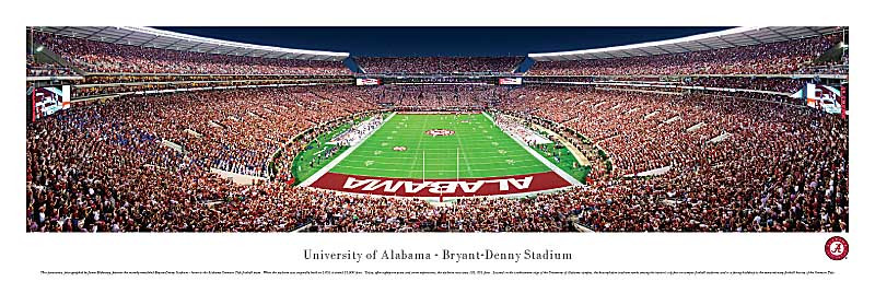 End Zone Crimson Tide At Bryant Denny Stadium Panorama