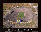Michigan Stadium Aerial Poster