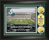 Michigan State Spartan Stadium 24KT Gold Coin Photomint