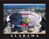 Bryant Denny Stadium Aerial Poster