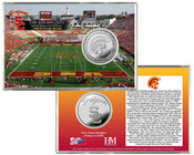 University of Southern California LA Coliseum  Silver Coin Card