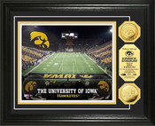 Iowa Hawkeyes - Kinnick Stadium Gold Coin Photo Mint