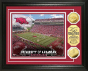 Arkansas Razorbacks - Razorback Stadium Gold Coin Photo Mint