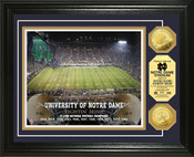 Notre Dame Fighting Irish Gold Coin Photo Mint