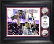 "Tom Brady Super Bowl XLIX Champion ""Trophy"" Photo Mint"