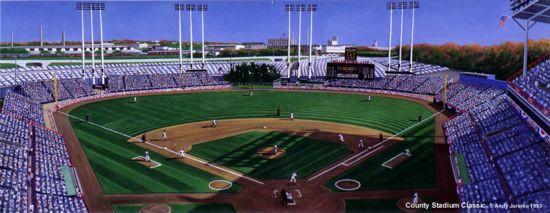 """County Stadium Classic"" Milwaukee Braves Print"