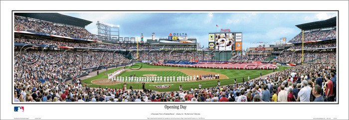 """Opening Day"" Atlanta Braves at Turner Field Panoramic Poster"