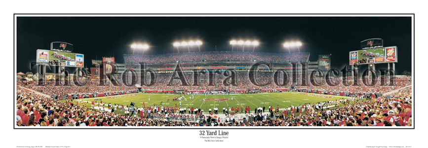 """32 Yard Line"" Buccaneers13.5""x39""Panoramic Poster"