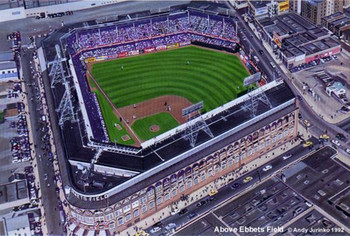 """Above Ebbets Field"" Brooklyn Dodgers Print"