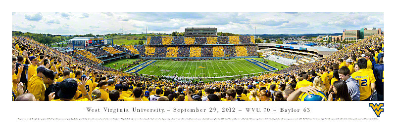 West Virginia Mountaineers at Mountaineer Field Panoramic Poster