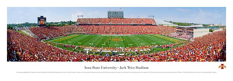 """Iowa State Black & White"" Cyclones Panoramic Photo"