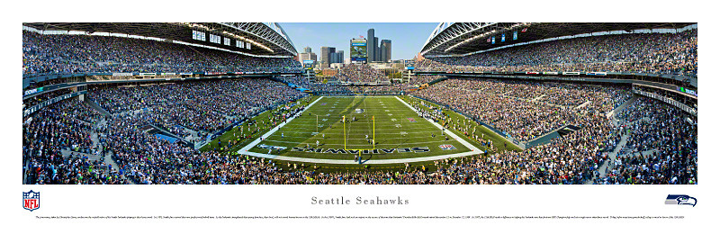 Seattle Seahawks at Qwest Field Panorama Poster