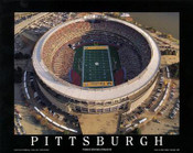 Three Rivers Stadium Aerial Poster