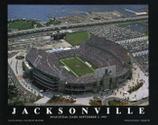 Everbank Field Aerial Poster