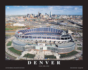Sports Authority Field Aerial Poster