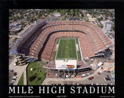 Mile High Stadium Aerial Poster