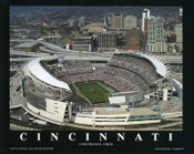 Paul Brown Stadium Aerial Poster