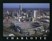 Bank of America Stadium Aerial Poster