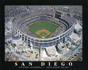 Qualcomm Stadium Aerial Poster