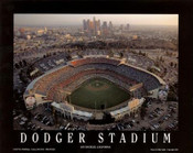 Dodger Stadium - LA Skyline at Dusk Fine Art Print