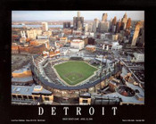 Detroit - First Night Game at Comerica Park Fine Art Print