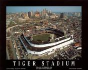 Tiger Stadium Aerial Poster