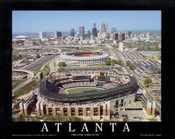 Atlanta - First Braves Game at Turner Field Fine Art Print