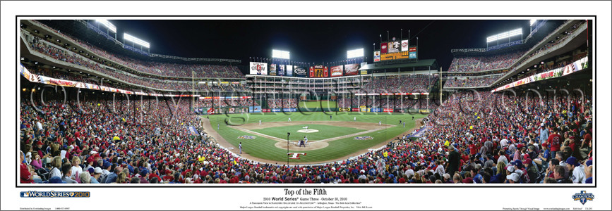 """Top of the Fifth"" 2010 World Series 13.5"" x 39""Panoramic Poster"