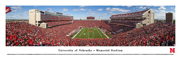 Nebraska Cornhuskers at Memorial Stadium Panorama Poster