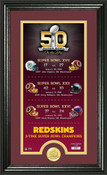 Washington Redskins Super Bowl 50th Anniversary Photo Mint 1