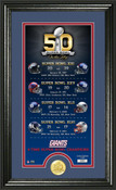 New York Giants Super Bowl 50th Anniversary Photo Mint 1