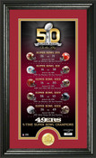 San Francisco 49ers Super Bowl 50th Anniversary Photo Mint 1