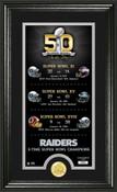 Oakland Raiders Super Bowl 50th Anniversary Photo Mint 1